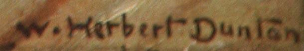 "W. Herbert Dunton's signature from ""The Glance"""